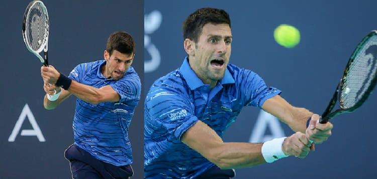Djokovic usó dos modelos de raqueta en un mismo juego
