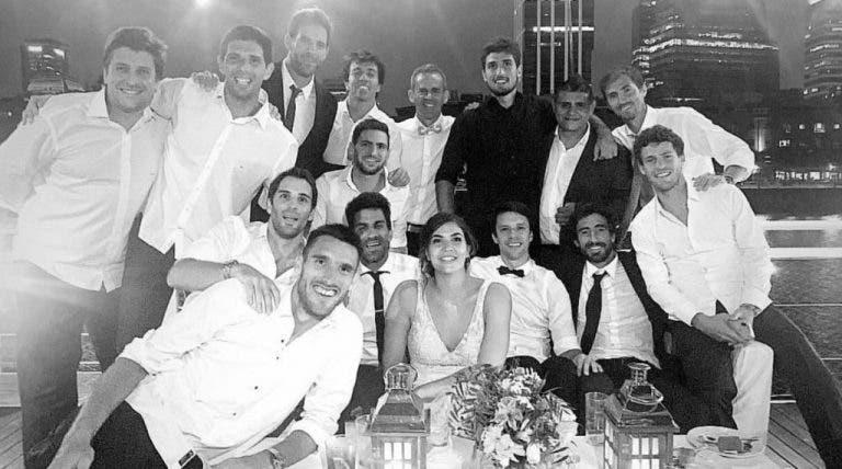 Se casó Leonardo Mayer y muchos de sus colegas asistieron a la celebración