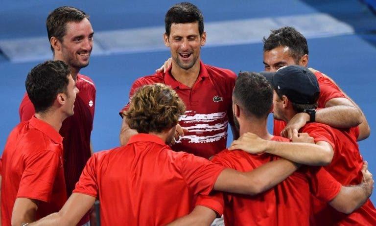 Novak Djokovic se muestra muy contento de poder representar a su país