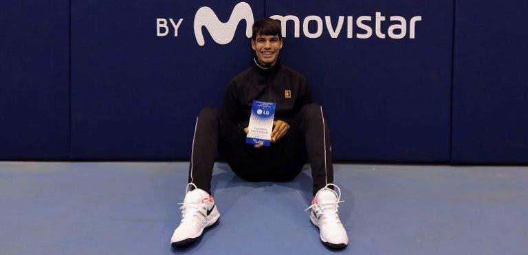 16 años y dos títulos en dos semanas: Carlitos Alcaraz está imparable