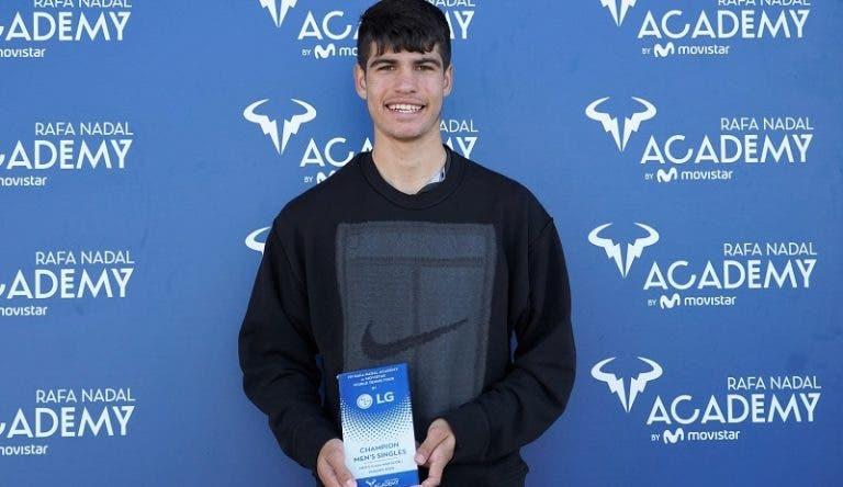 Prodígio Alcaraz conquista ITF en la Academia Nadal a los 16 años