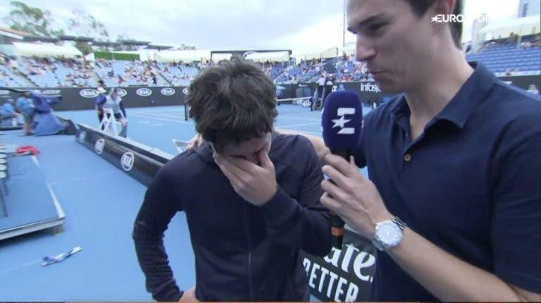 [VIDEO] Navarro emocionada tras ganar la 1° ronda del Open de Australia
