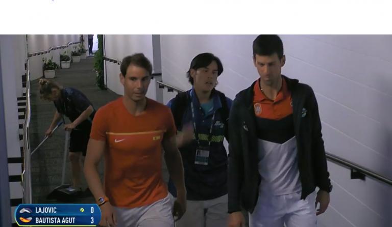 [VIDEO] Nadal y Djokovic iniciaron juntos la preparación del duelo entre ellos