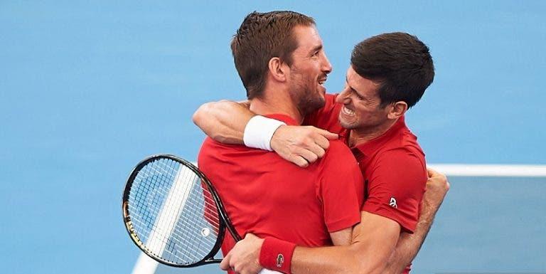 Serbia derrota a España y gana su primera ATP Cup