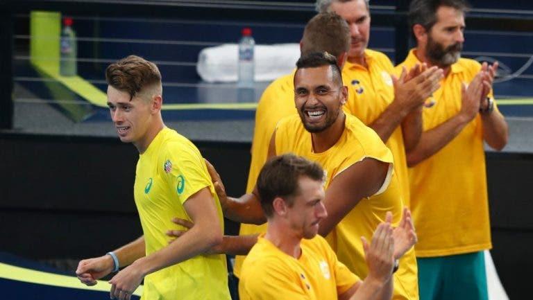 Kyrgios y De Miñaur juegan los dobles y llevan a Australia a semifinales
