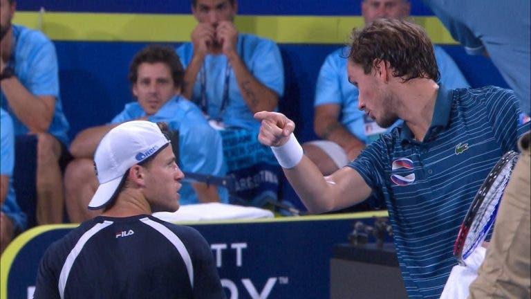 Schwartzman dice que no le hablará más a Medvedev después de polémica en la ATP Cup