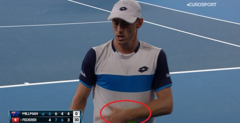 Controversia: Millman intentó alterar con sudor la velocidad de pelotas ante Federer