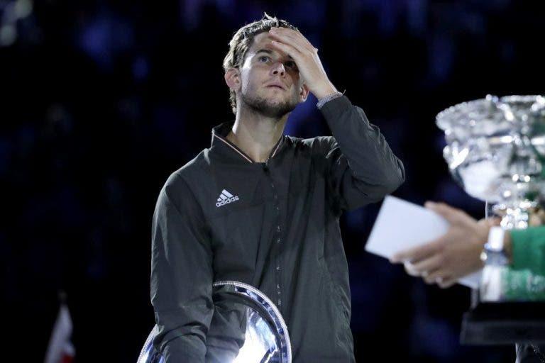 Thiem exhausto después de la derrota ante Djokovic