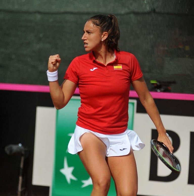 Sara Sorribes protagoniza la sorpresa del día en Fed Cup