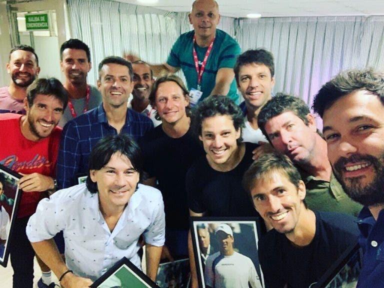 Estrellas del pasado se reúnen en emotivo homenaje del Argentina Open