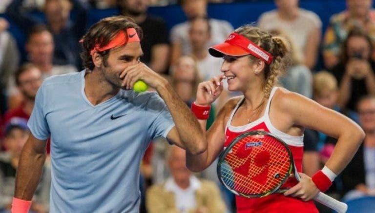 Bencic: «Extraño jugar dobles con Federer»