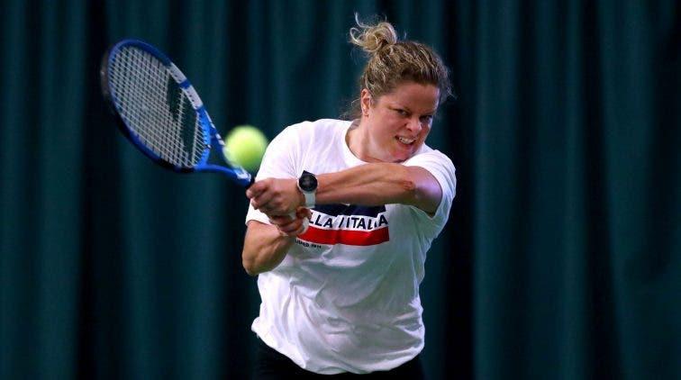 Kim Clijsters prepara su regreso siendo sparring del equipo belga de Fed Cup