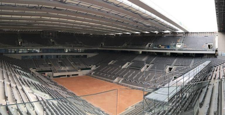La primera imagen de la nueva cancha central de Roland Garros