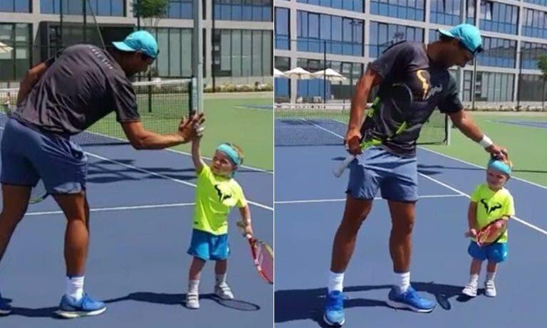 Ethan Lax, el «mini-tenista» furor, y su encuentro con Rafa Nadal