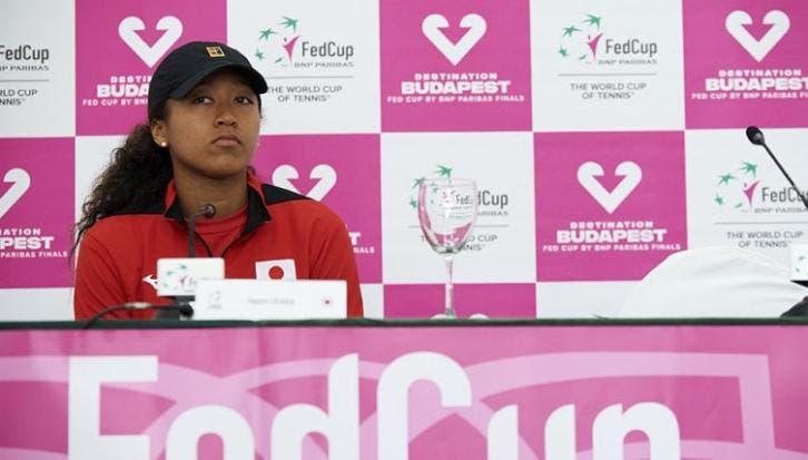 Naomi Osaka decepcionada por su nivel de juego en la Fed Cup