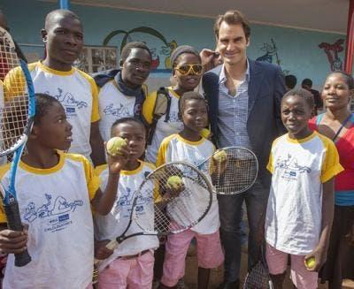 Roger Federer y el motivo de la ayuda en África