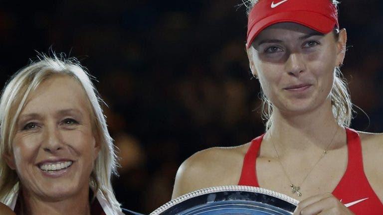 Martina Navratilova y los elogios a Maria Sharapova