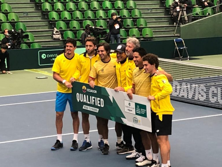 Copa Davis: Ecuador derrota a Japón y clasifica a las Finales