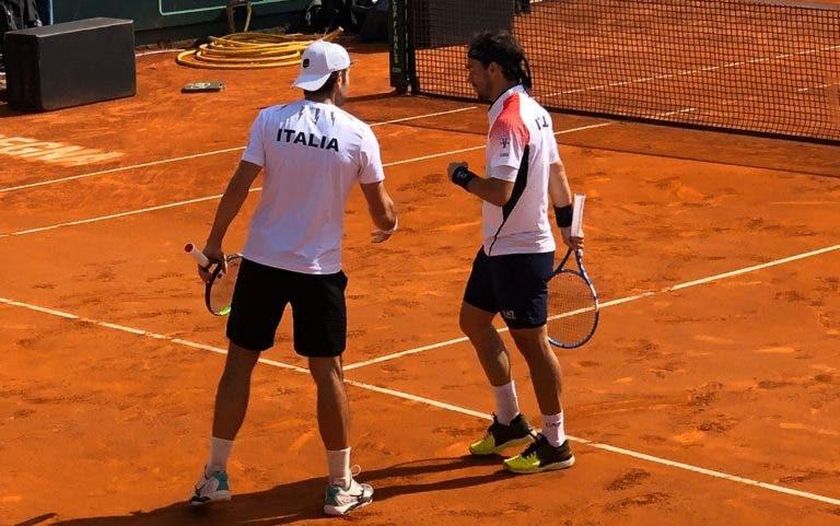 Italia y Kazajistán pasan en la Copa Davis y Grecia vence en los play-off