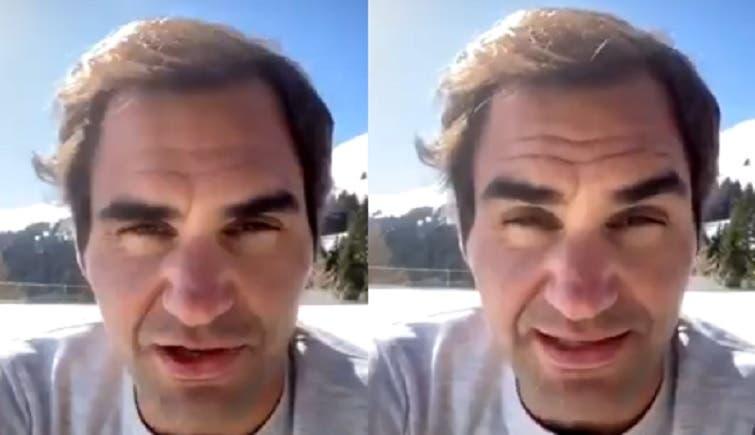 Federer apareció en las redes sociales y hace un pedido a todos