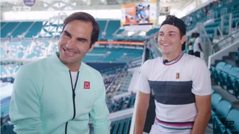 Kecmanovic y la ventaja de entrenar con Federer y Djokovic