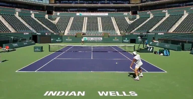 [VIDEO] La impresionante intensidad con la que entrena Nadal en Indian Wells