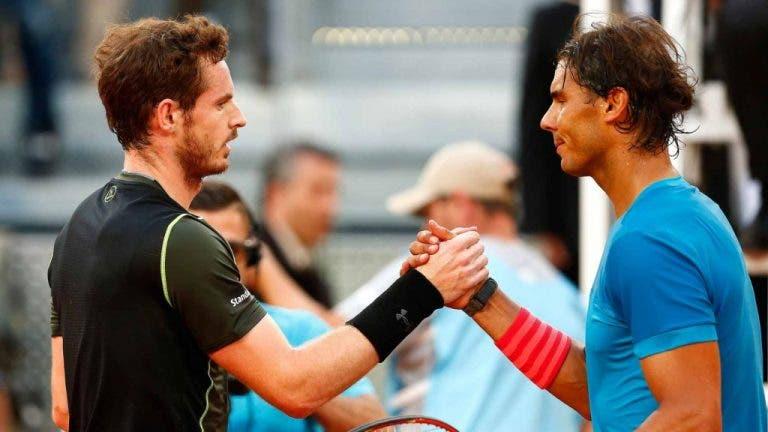 Madrid Open virtual: Nadal vs. Murray abre la segunda jornada de lujo