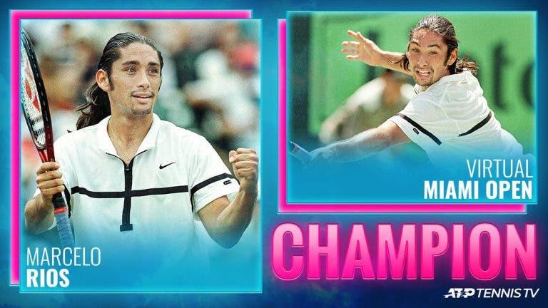Marcelo Ríos vence a Federer y gana el Miami Open virtual
