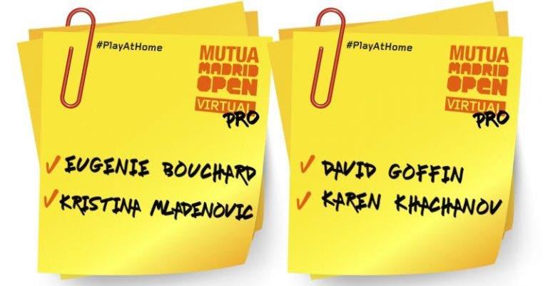 Otros cuatro tenistas se suman al Mutua Madrid Open virtual