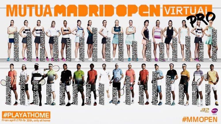 Mutua Madrid Open ya tiene el cuadro completo de sus participantes