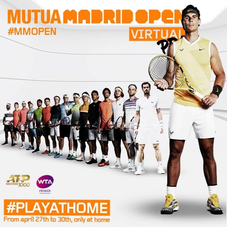 Ya se conocen los grupos del Mutua Madrid Open Virtual Pro