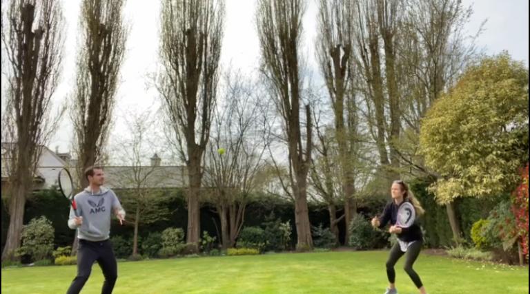 Murray y su esposa crean reto y desafían a Federer y Mirka