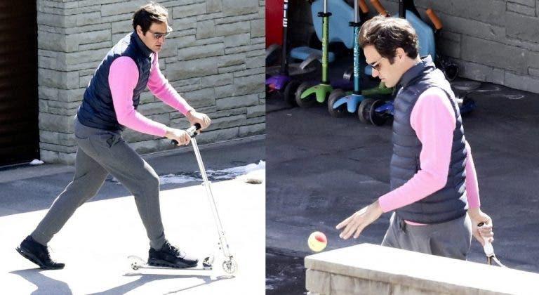 [FOTOS] Federer busca formas alternativas de pasar el tiempo en la cuarentena