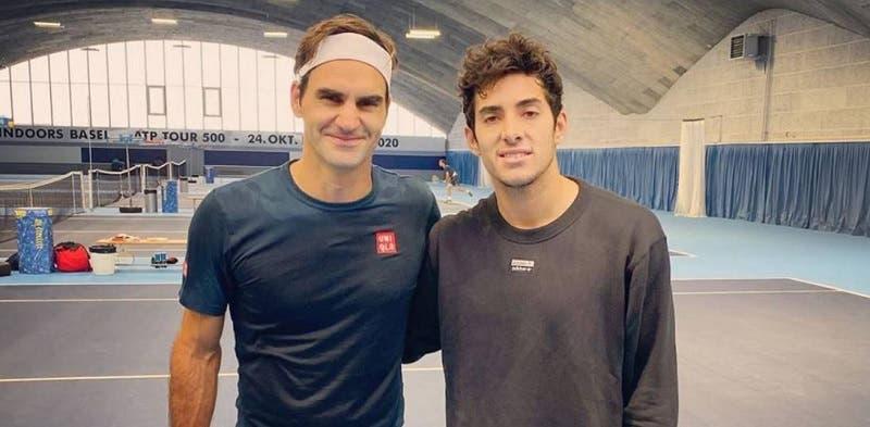Cristian Garín dijo que cuando conoció a Federer le sorprendió su actitud