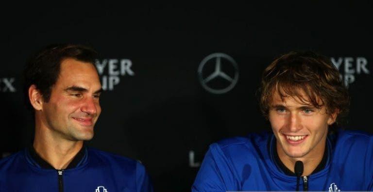 Zverev bromeó: Federer sabía lo de la parada y por eso se operó