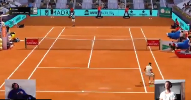 [VIDEO] Fognini y su divertido pedido a Pennetta durante el Madrid Open