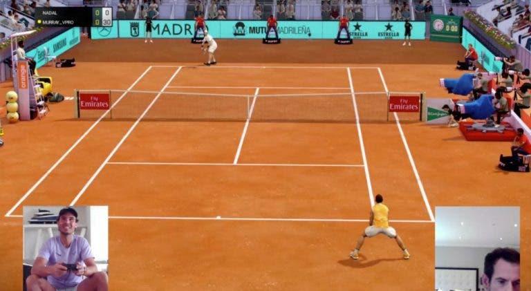 Murray derriba Nadal, el 'rey' de tierra batida en el Madrid Open virtual