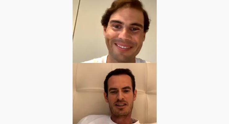 [VIDEO] Nadal y Murray también estuvieron en vivo: hablaron de hijos e incluso de Kyrgios