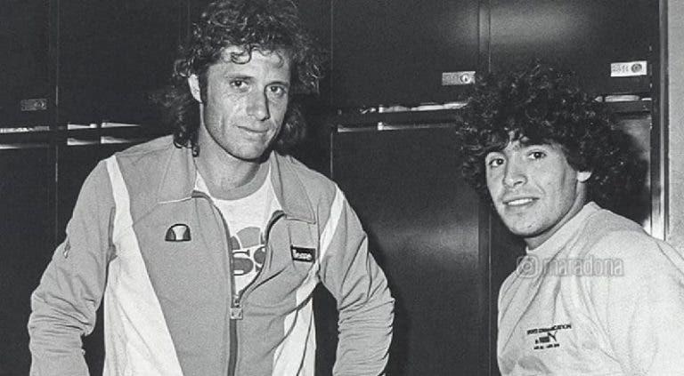 Maradona envía un mensaje a Vilas, que padece una grave enfermedad