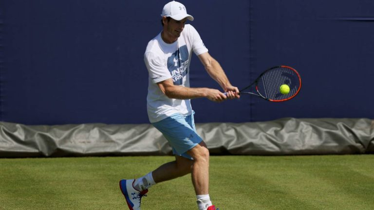 Los tenistas ya pueden volver a practicar en las chanchas de Londres
