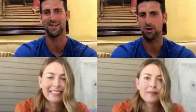 Djokovic revela a Sharapova el día que jugó con resaca