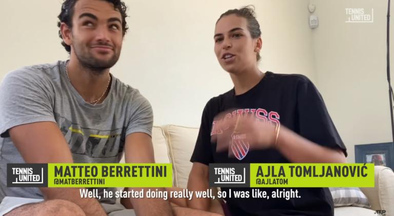 [VIDEO] Berrettini y Tomljanovic cuentan cómo fue que se hicieron novios