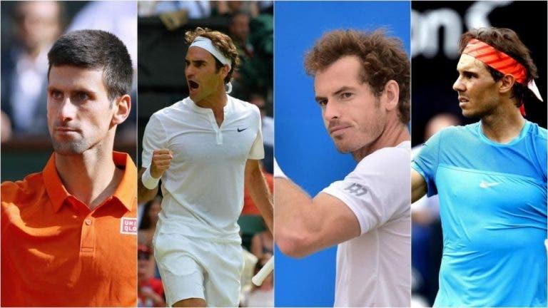 Big Four: únicos en ocupar el top 2 del ranking ATP en los últimos 15 años