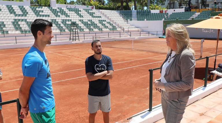 Alcaldesa de Marbella agradece a Djokovic por su presencia en la ciudad