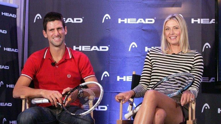 Djokovic y Sharapova estarán juntos este martes en directo en Instagram