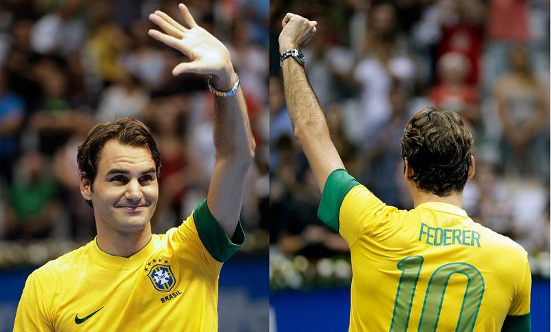 Roger Federer dice que desea volver a Brasil en conversación con Kuerten