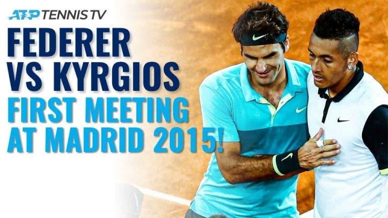 [VIDEO] Federer y Kyrgios se enfrentaban por 1° vez hace cinco años