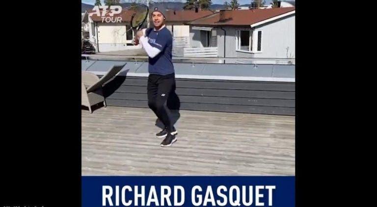 [VIDEO] Tenistas imitan movimientos de algunos de los mejores jugadores