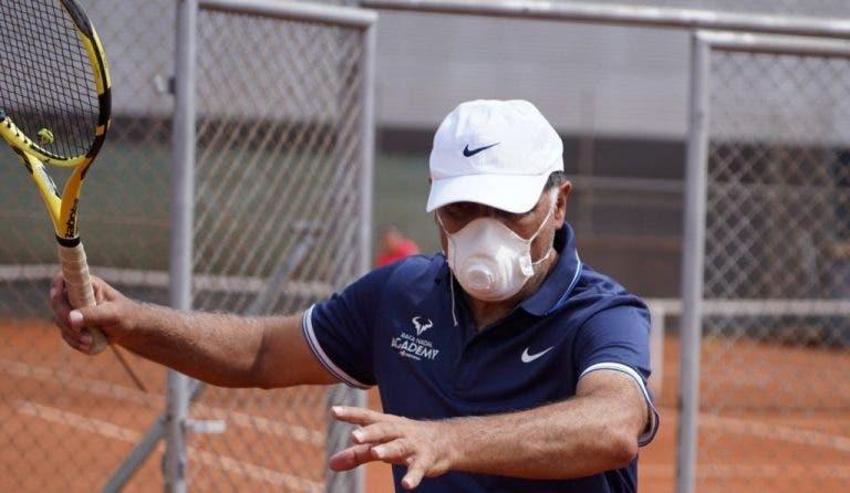 Toni Nadal se muestra feliz por volver a los entrenamientos