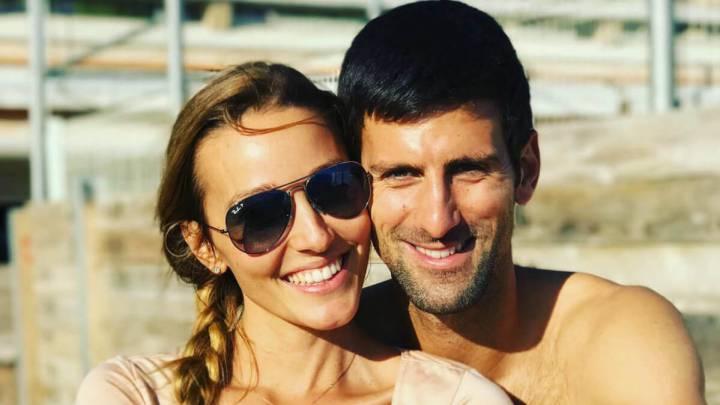 Djokovic y su esposa sin síntomas de covid-19 y siguen en aislamiento